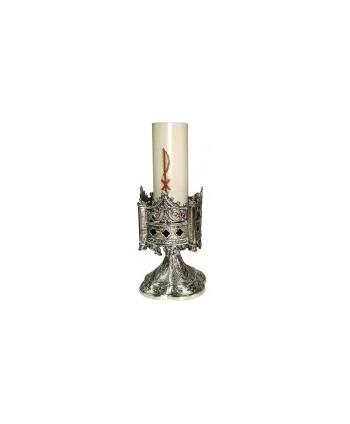 Candeliere gotico in ottone