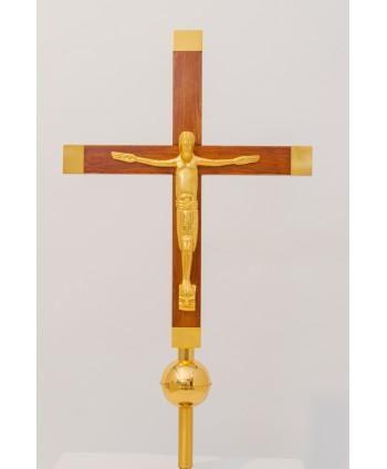 Croce astile in legno con...