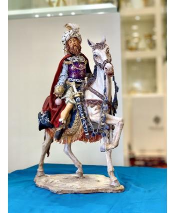 Re Magio a cavallo