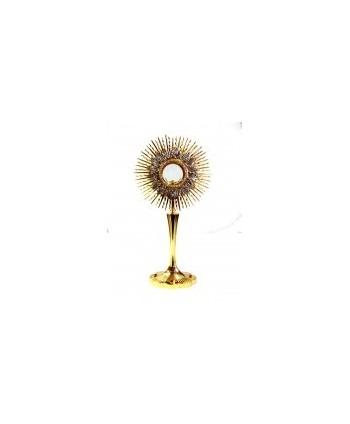 Ostensorio ottone argento oro